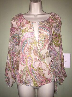 Dillards Glam Brand Sheer Cold Shoulder Tunic Size S