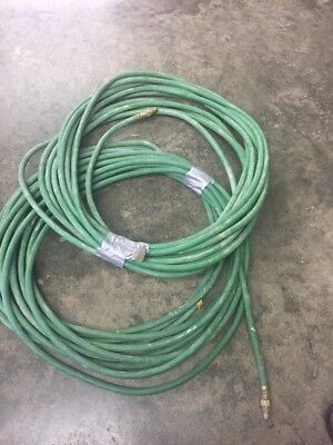 2 Rolls Of 50 Ft. Argon Co2 Hoses 14 100 Total With Brass Fittings