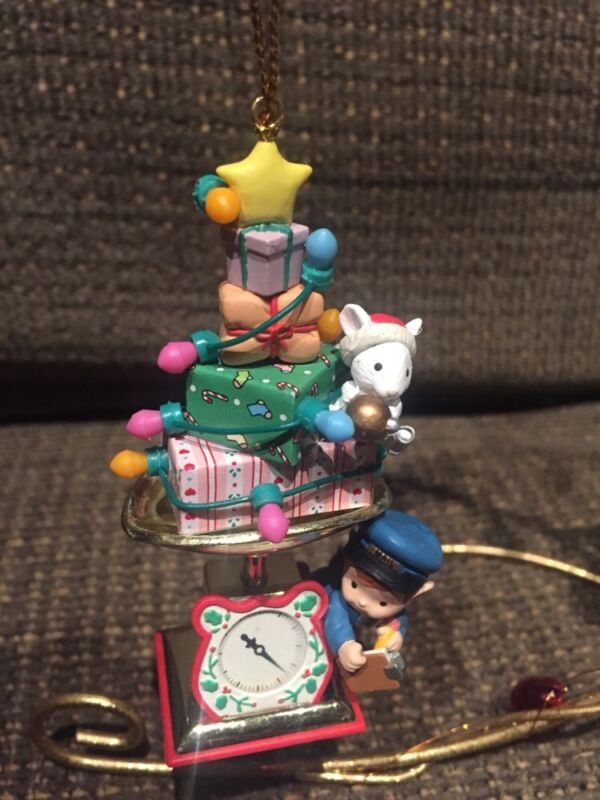 ENESCO CHRISTMAS ORNAMENT: MEMBERS ONLY FIRST CLASS CHRISTMAS MOUSE on MAILSCALE