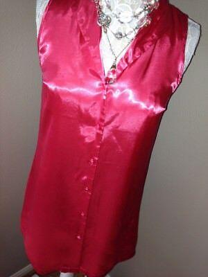 JONES NEW YORK~Sleek Pj SATIN Pajamas  A-Line Sleepshirt Nightie GOWN~SMALL S - Lined Satin Pajamas