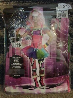NEW HALLOWEEN Costume 90s Hip Hop Queen Junior 1990's Women Girl Medium 7-9 - 90s Hip Hop Costume