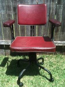 Retro Vintage Industrial Swivel Office Chair with Armrests Bexley Rockdale Area Preview