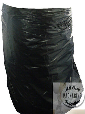 10 LARGE BLACK POLYTHENE WHEELIE BIN LINERS BAGS SACKS SIZE 30 X 46 X 54