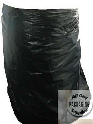 100 LARGE BLACK POLYTHENE WHEELIE BIN LINERS BAGS SACKS SIZE 30 X 46 X 54