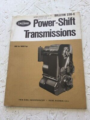 Twin Disc Power Shift Transmissions Specifications Manual