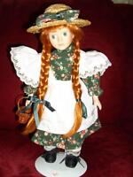 """12"""" Porceline Anne Doll with Stand"""
