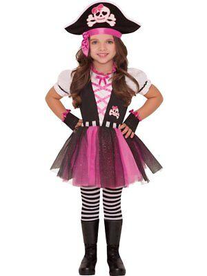Glitzernde Piratin - Kinderkostüm, Seeräuber, Piraten Mädchen-Kostüm (Kind Räuber Kostüm)
