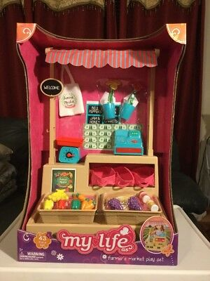 """My Life As Farmers Market Play Set For Dolls 18"""" Tall✨"""