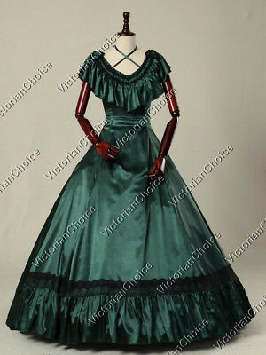 Girl Victorian Dress (Victorian Old West Saloon Girl Vintage Ball Gown Dress Theater Costume 127)
