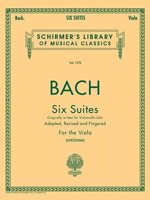 Bach 6 Suites Viola Solo String Solo NEW 050258440