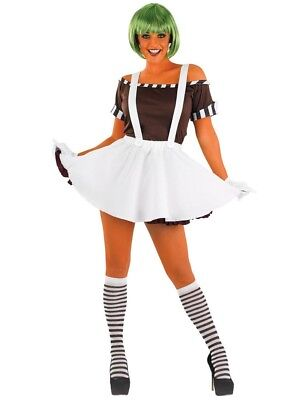 Willy Wonka Oompa Loompa Umpa Lumpa Factory Worker Costume Outfit. Size XL - Willy Wonka Womens Halloween Costume