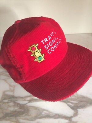 Red Corduroy Traffic Signal Company Stop Light  Snapback Trucker Hat Cap