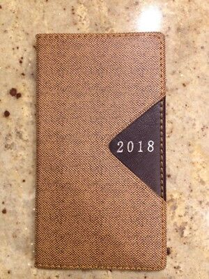 2018 Planner Calendar Agenda Appointment Book Dated Daily Weekly Poket Beige 4x7