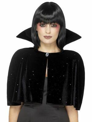 Kurzes Samt Cape Hoher Kragen Böse Königin Vampirin Umhang Halloween Zubehör