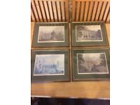 4 x Cambridge College - framed picture - Magdalene, Trinity, King's, Jesus