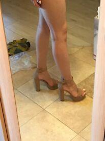 Faux Leather Women's High Heel