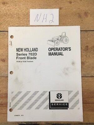 New Holland Front Dozer Blade 702d For Tc48 Tc55 Operators Manual