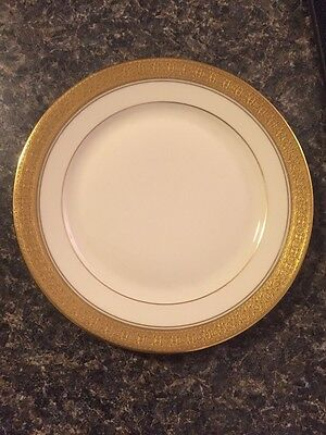 """(4130#4) Rosenthal Bavaria IVORY with Gold Color Trim 6-1/8"""" Bread Plate China"""
