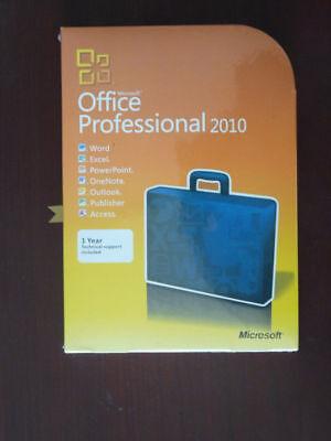 Microsoft Office Professional 2010 Full Retail Version Windows  For 3 Pcs 32 64