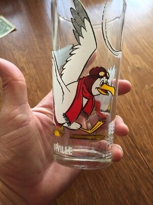 "Vintage ORVILLE ""The Rescuers"" Collector Series Drinking Glass Pepsi Disney 1977"