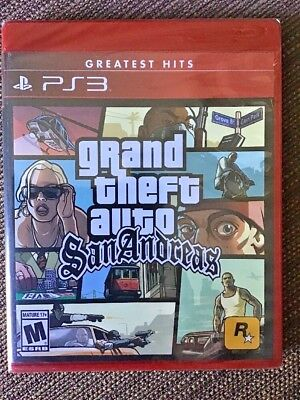 Grand Theft Auto: San Andreas (PS3, 2015) NEW SEALED FREE SHIPPING GTA