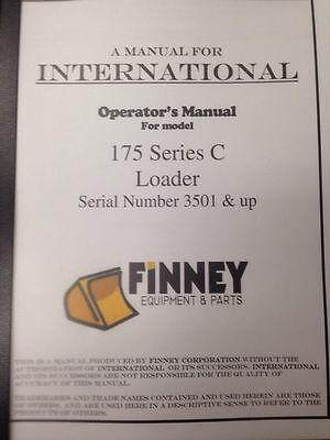 Ih International Dresser 175c Crawler Loader Operators Maintenance Manual Book H
