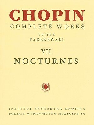 Nocturnes Sheet Music Chopin Complete Works Vol. VII PWM Book NEW 000132285 Complete Works Music Book