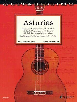 Asturias Sheet Music 55 Classical Masterpieces from 5 Centuries Guitar 049046255