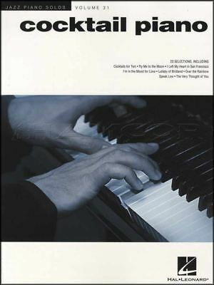 Cocktail Piano Jazz Piano Solos Volume 31 Sheet Music Book Blue Moon Stardust ()