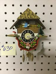 Genuine Black Forest Miniature Clocks #630 Cuckoo Clock Theme