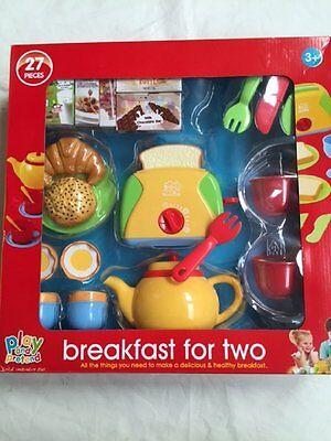 New Play & Pretend 27 Piece Jumbo Breakfast Set Play Food Toy 3+
