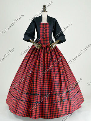 Victorian Dickens Christmas Caroler Prairie Pioneer Woman Theater Dress Gown 160 (Caroler Costumes)