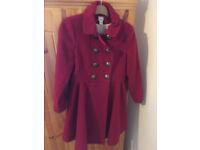 Monsoon girls red coat 11-12 years used