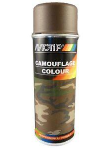 Camouflage Lack Spray Braun 400ml matt Tarnfarbe 8027 Motip