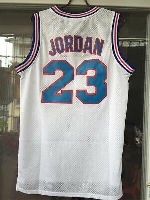 Michael Jordan #23 Space Jam Tune Squad Basketball Jersey Stitched White Black