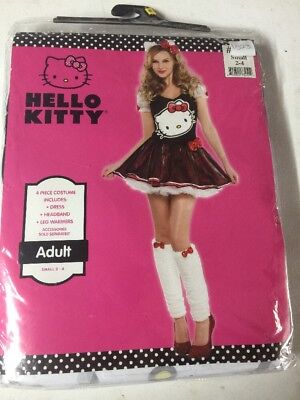 NEW HALLOWEEN Costume Hello Kitty Adult Small 2-4 - Hello Kitty Adult Halloween Costume