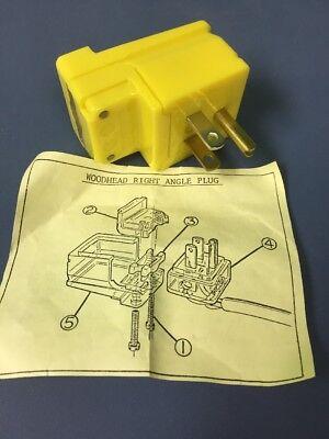 Wood Head 14r47 Right Angle Safeway Plug Male 15amp 125 Volt