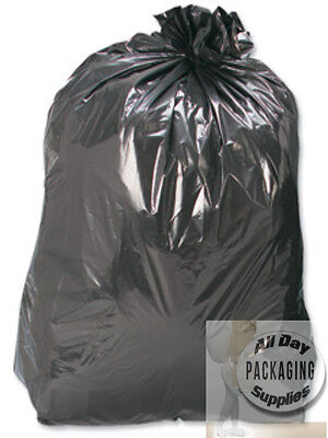 1000 LARGE BLACK POLYTHENE BIN LINERS BAGS REFUSE SACKS SIZE 18 X 29 X 39