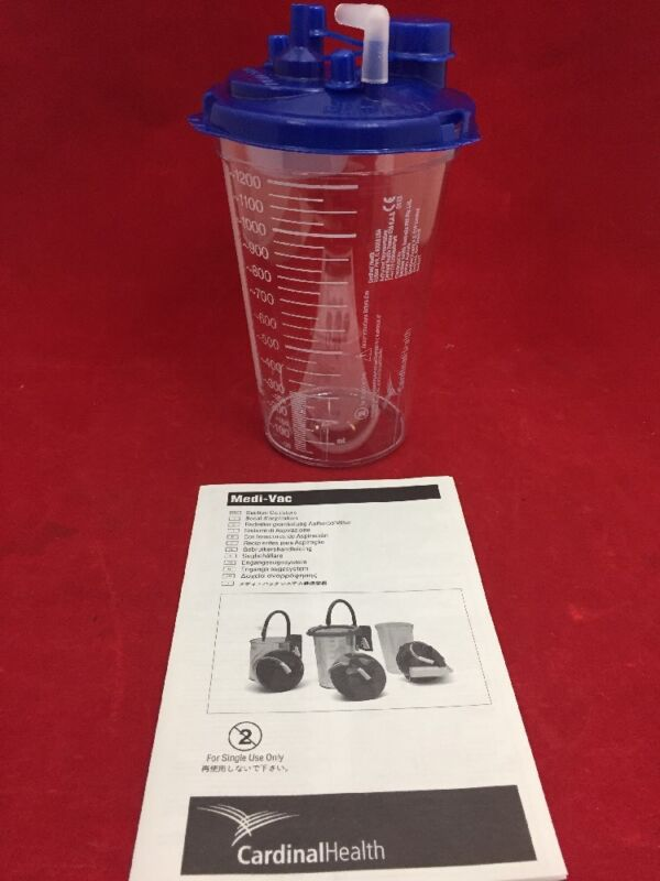New Case Of 40 Cardinal Health Medi-vac Canisters 1200ml W/lids 65651-212