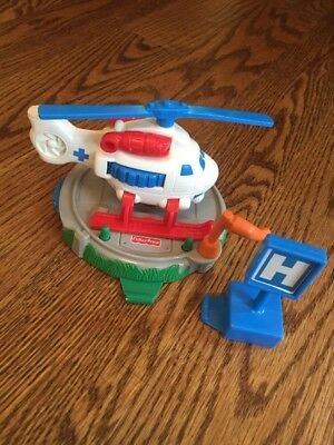 Fisher Price GeoTrax Whirly Bird Rescue Set