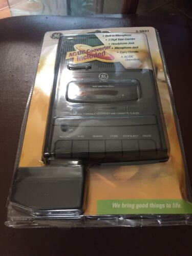 GE Cassette Recorder NOS sealed 3-5027 personal portable recorder & player NEW