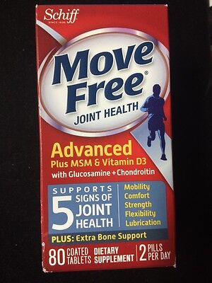 Move Free Glucosamine Chondroitin MSM Vitamin D3 80 Count New!