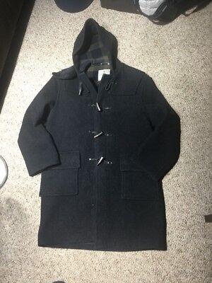 Vintage Montgomery Tibbett Gray Wool Toggle Duffle Jacket Mens Sz 40