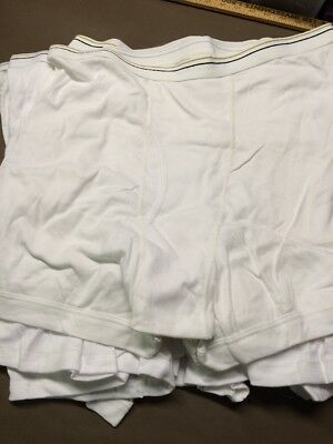 Men's Stafford White Boxer Briefs Size XXL (44-46) Lot Of 12