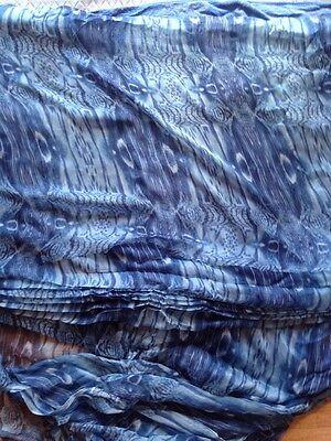 FLORAL  ITALIAN PURE SILK  CRINKLE CHIFFON DRESS FABRIC