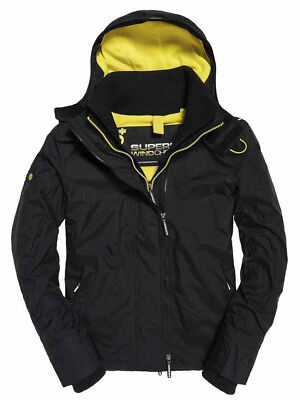 SUPERDRY MENS HOODED ARCTIC WINDCHEATER IN BLACK, BNWT, RRP £85, Size Small