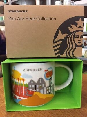 STARBUCKS ABERDEEN: 'You Are Here' Mug Collection UK Collectors 2017 New Gift