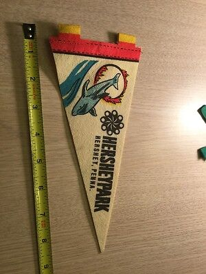 Vintage Pennant Hershey Park Pennsylvania Dolphin Nice For Office
