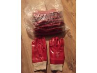 10 pairs of rubber safety gloves size 9