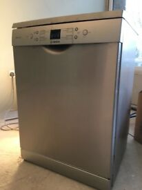 Bosch silver dishwasher - freestanding